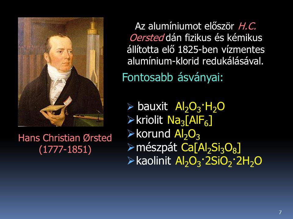 Fontosabb ásványai: kriolit Na3[AlF6] korund Al2O3